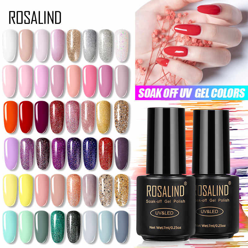 Smalto Gel UV ROSALIND 7ML, Set per Manicure, smalto semipermanente ibrido, smalto gel bianco per unghie
