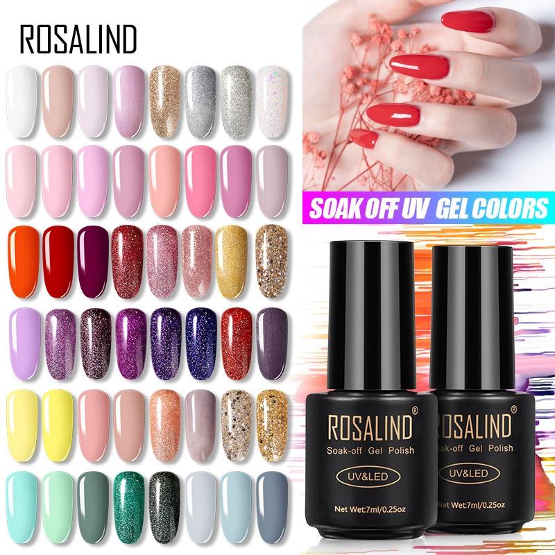 ROSALIND 7ML UV Gel Varnish Nail Polish Set For Manicure Gellak Semi Permanent Hybrid Nails Art Off Prime White gel nail polish(China)