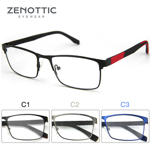 Image 4 - ZENOTTIC Alloy Progressive Prescription Glasses For Men Women Square Myopia Anti blue light Photochromic Optical Eyewear Frame