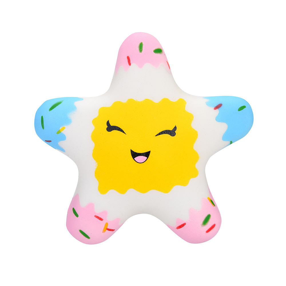 Kawaii Star Scented Squishies Slow Rising Kids Toys Stress Relief Toy Hop Props Smiley Pentagram Slow Rebound Toy L108