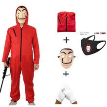 Salvador Dali kostium filmowy pieniądze Heist dom papieru La Casa De Papel Cosplay impreza z okazji Halloween kostiumy z maską tanie tanio NWZSM Kombinezony i pajacyki Film i TELEWIZJA Unisex Dla dorosłych Zestawy Other cos212 Poliester