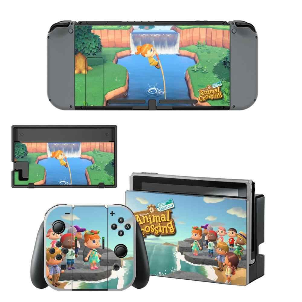 Naklejki winylowe na przełącznik do nintendo animal crossing skórki naklejka na Nintendos przełącznik konsoli Joy-con kontroler ochrona stacji dokującej