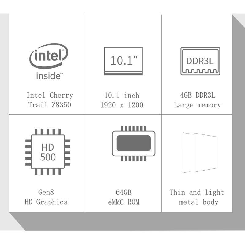 Image 4 - Джемпер Ezpad 7 2 в 1 планшетный ПК 10,1 дюймов Fhd Ips экран Cherry Trail X5 Z8350 4 ГБ Ddr3 64 Гб Emmc Windows 10 планшетный ПКПланшеты    АлиЭкспресс