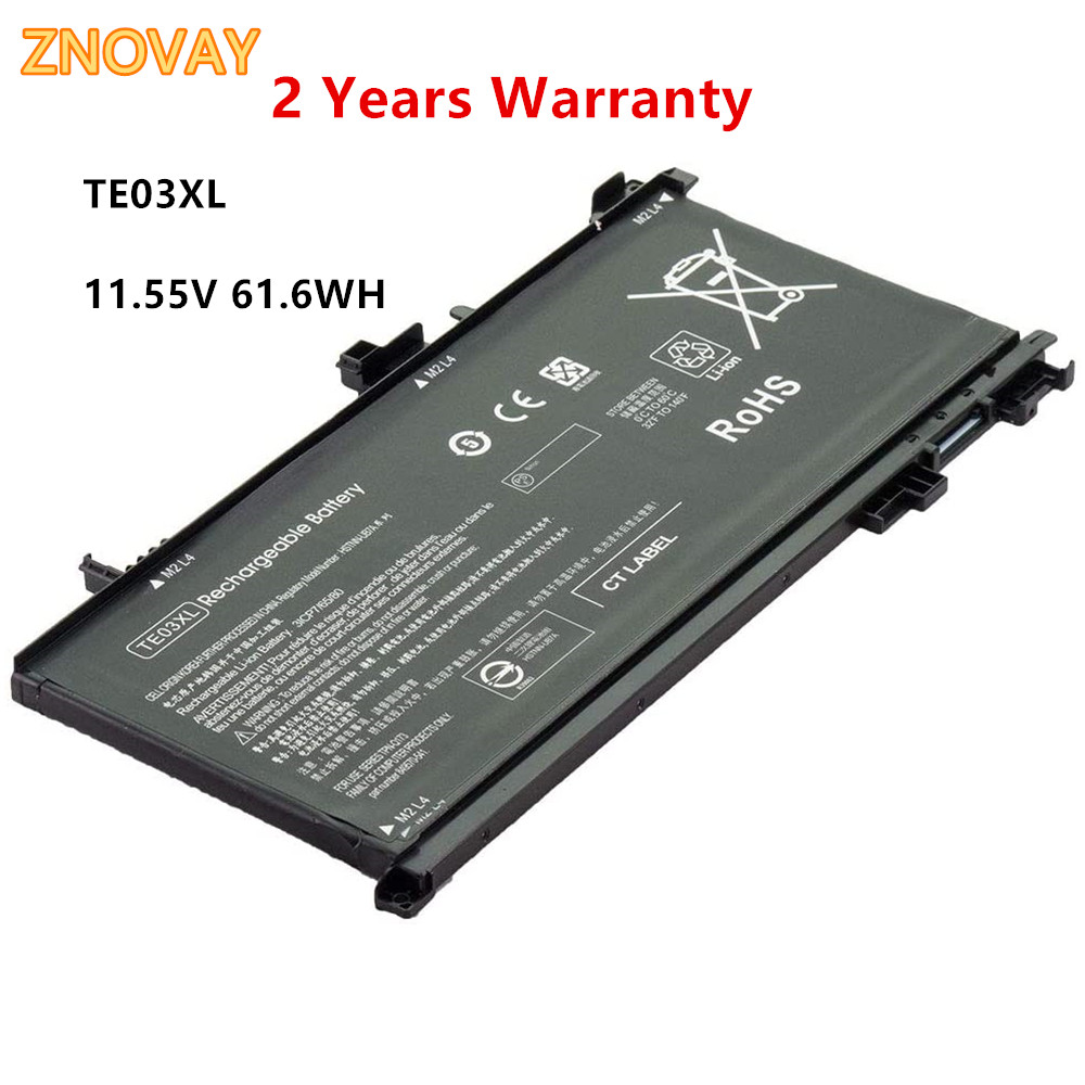 11.55V 61.6WH TE03XL Laptop Battery For HP OMEN TPN-Q173 HSTNN-UB7A 15-bc011TX 15-bc012TX 15-bc013TX 15-bc015TX Notebook