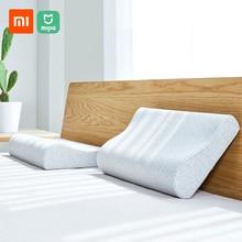 Xiaomi Mijia Antibacterial หมอนคอหน่วยความจำหมอนผ้าฝ้าย Breathable สำหรับ Sleeping ผ่อนคลายหมอน