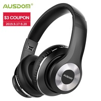 AUSDOM NEW ANC10 V5.0 Wireless Bluetooth Headphones Folding Active Noise Cancelling Wireless Earphone Headset With Mic for Phone