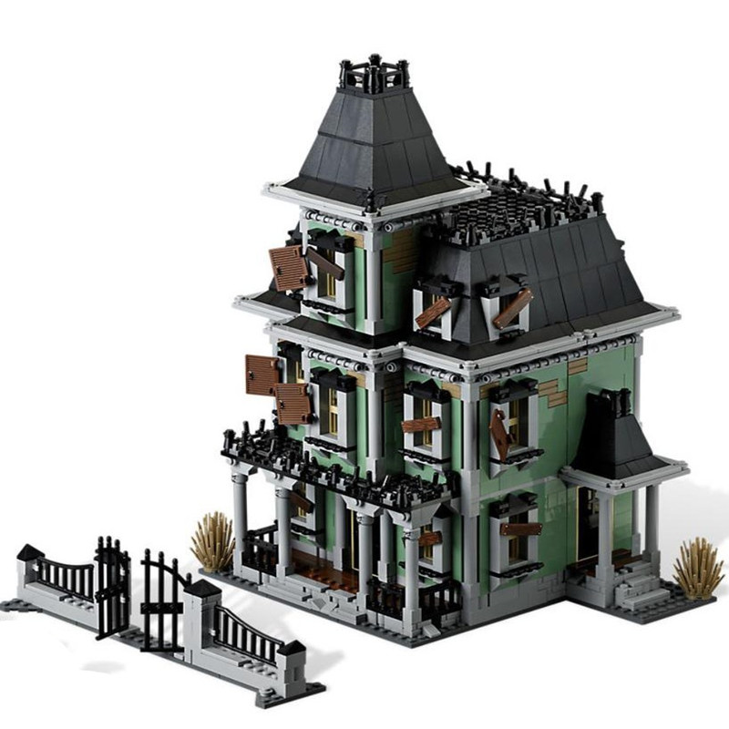 Lepinblock  Monsters Fighter The Haunted House Firehouse Headquarters 16007 10228 Building Blocks Movie Toys Kids Gifts