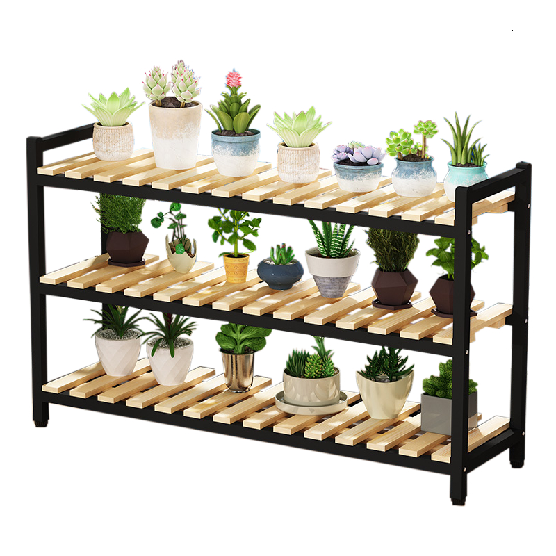 Balcony Flower Rack Windowsill Shelf Indoor Living Room Green Radish Flower Airs Iron Art Multi-storey Flowerpot Frame
