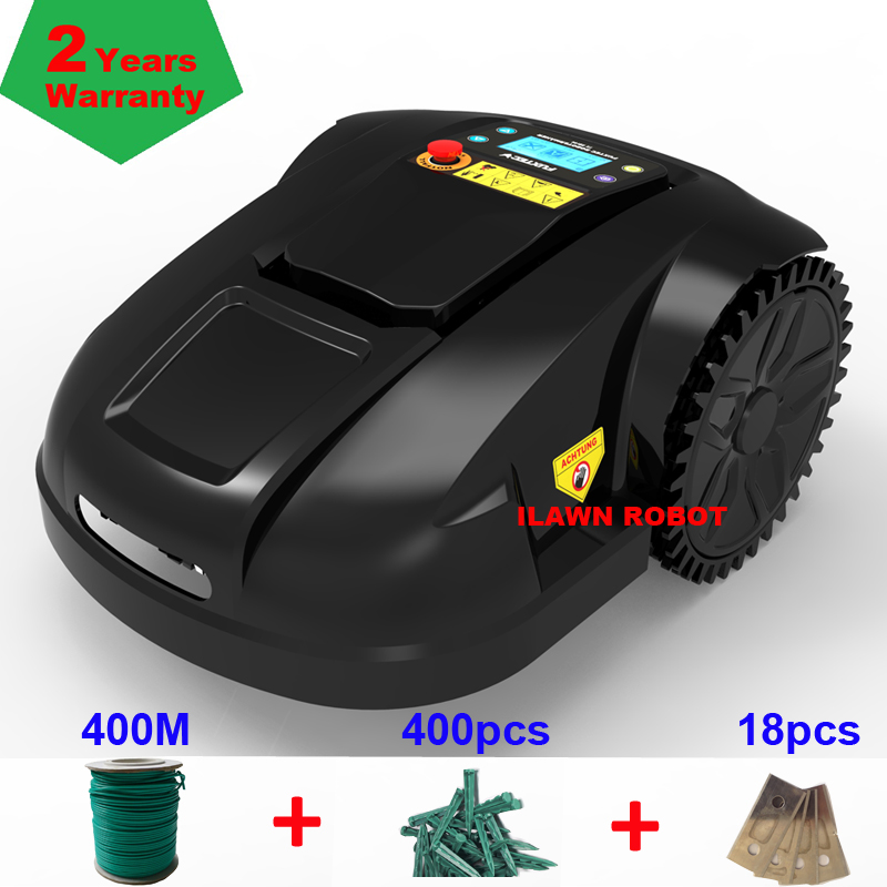Lawn Mower Robot For Sale With 4.4ah Lithium Battery With Total 400m Wire+400pcs Pegs++18pcs Blade,Auto Recharged,Gyroscope
