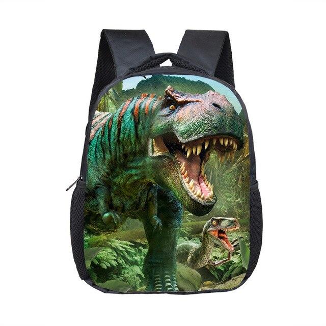 12 Inch Animals Dinosaur Backpacks 3D Dinosaur Children School Bags Baby Toddler Bag Boys Backpack for Kids Kindergarten Bags 3