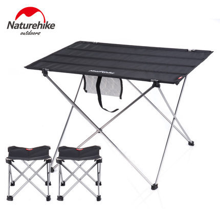 NH Outdoor Aluminum Alloy Folding Table Portable Stall Table Picnic Table And Chair Set Wholesale Manufacturers Direct Selling