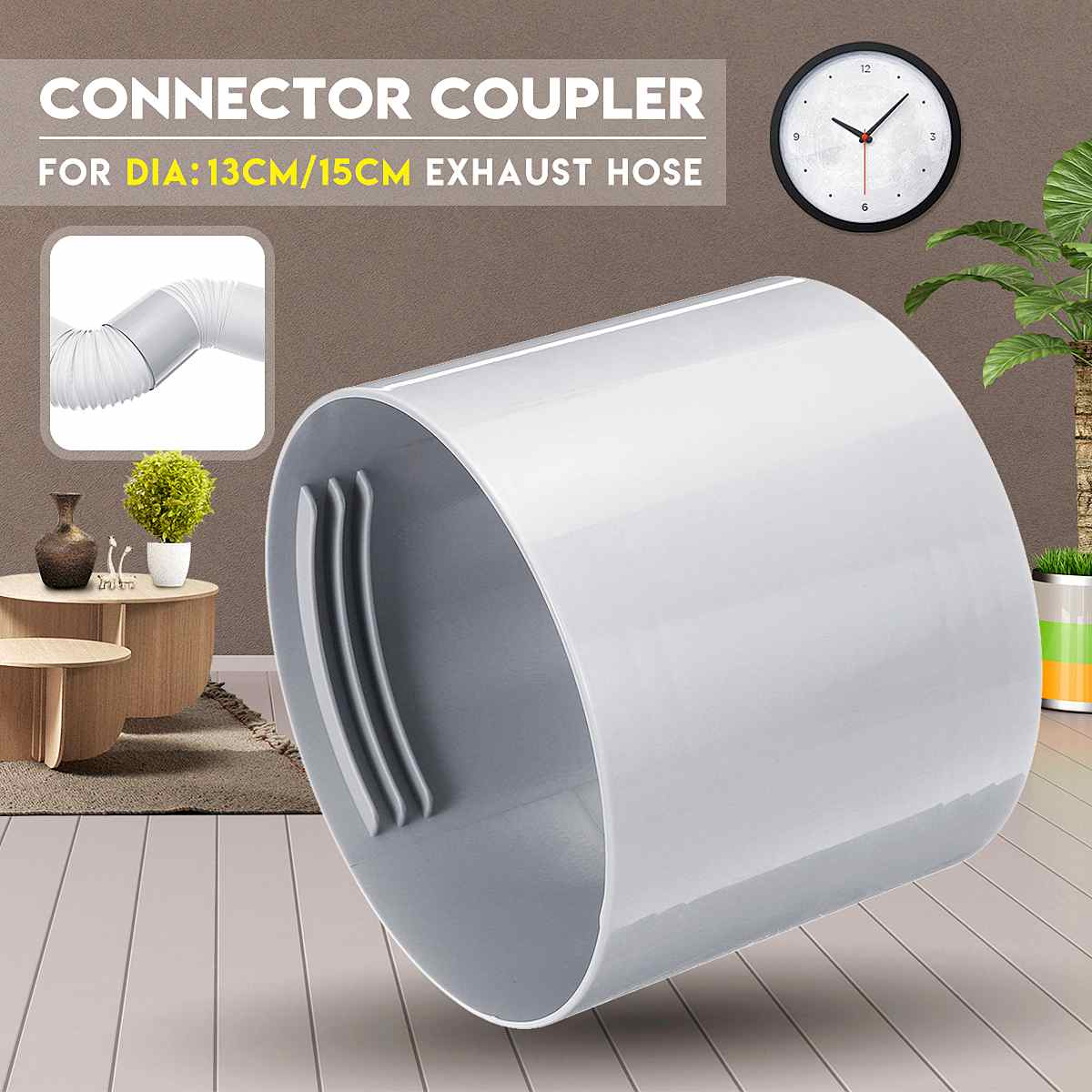 "Portable Air Conditioner 130mm / 150mm 5"" / 6"" Exhaust Hose Pipe Connector Coupler Air Conditioner Accessories Parts"