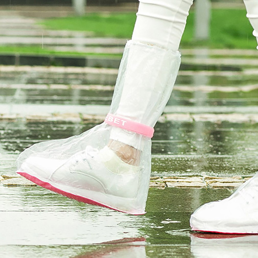 Rainboots Children Transparent Waterproof Rain Shoes Students Child Baby Toddler Rain Boots Non-slip Size