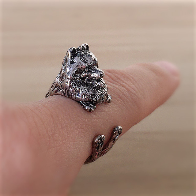 1 шт кольцо в стиле ретро панк померанское свободного размера