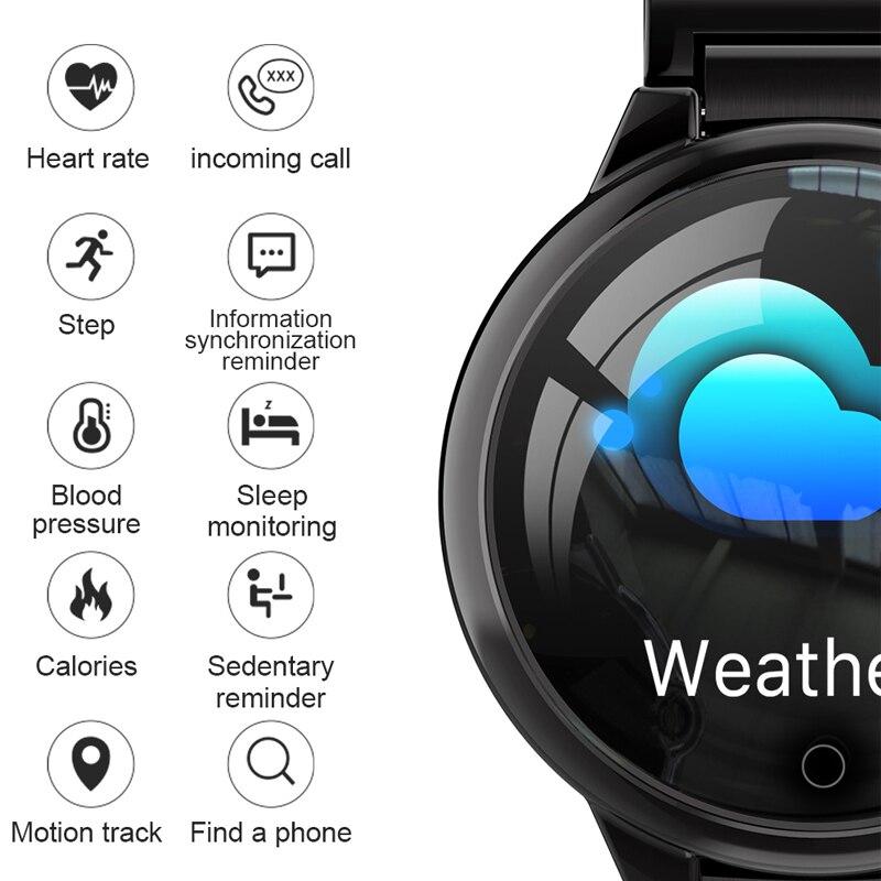 Bluetooth montre intelligente pour homme tension artérielle moniteur de sommeil montre-bracelet mode homme Sport Smartwatch horloge calorique Android IOS 2