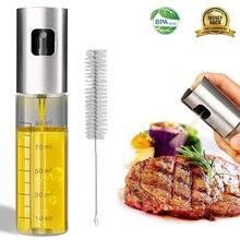 100 мл стеклянный распылитель оливкового масла пустая бутылка дозатор масла с чистящей щеткой для приготовления салата пикника барбекю Кухонные инструменты для выпечки