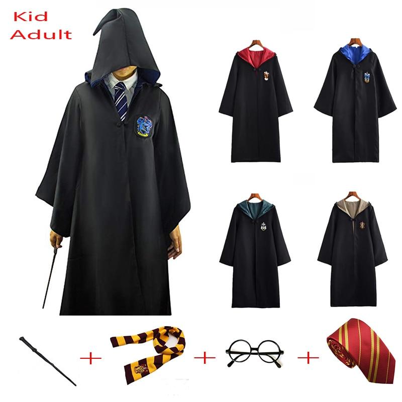 Плащ на Хэллоуин шарф Слизерин Когтевран женский косплей костюм Поттера для детей и взрослых| |   | АлиЭкспресс