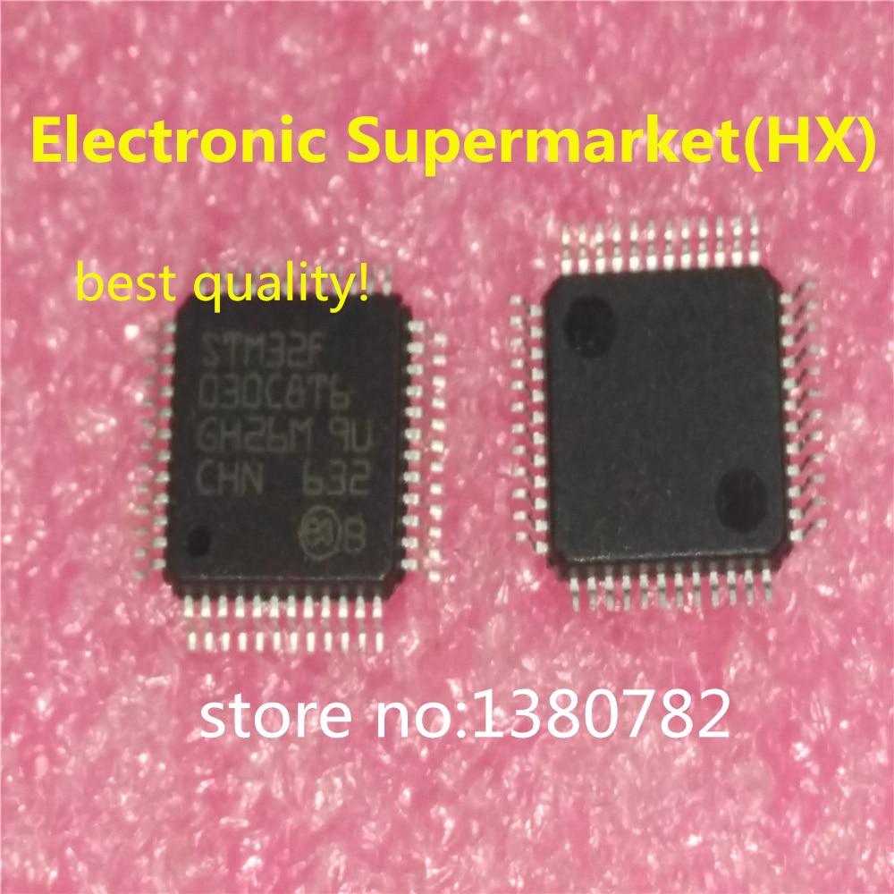 Frete grátis 50 unidades/lotes stm32f030c8t6 stm32f030 LQFP-48 novo original ic em estoque!