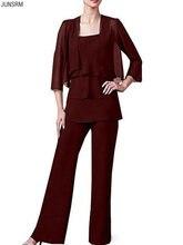 Женский шифоновый костюм с жакетом и брюками вечернее платье