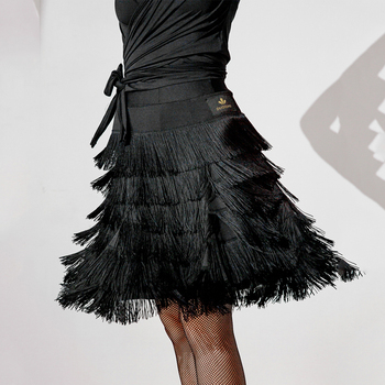 Latin Dance Skirt Fringe Dress Latin Dancewear Women Tassel Skirts Latin Dance Competition Dresses Ballroom Dance Wear SL1920