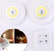 Nowe ściemnialne światła podszawkowe LED z pilotem zasilanie bateryjne LED szafy światła do szafy oświetlenie łazienki tanie tanio Vinkkatory HY362 Suche baterii Przełącznik 50000H