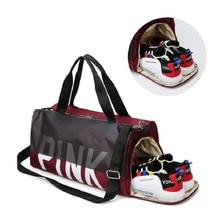 Gym-Bag Travel-Handbag Compartment Sports Shoes Separation Fitness Multifunction Women