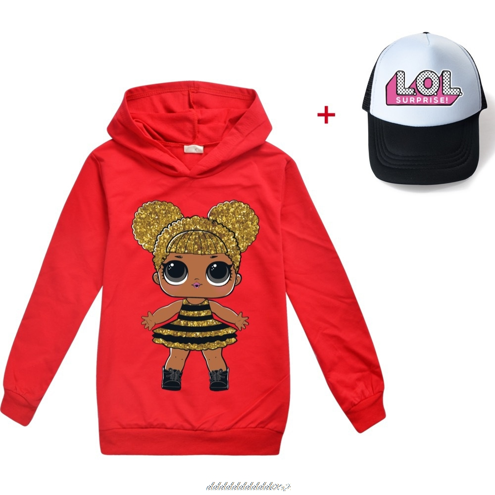 Gris L.O.L. SURPRISE! Hoodies Girl Fashion Hoodie Children Casual Pullovers Printed Sweaters Long Sleeves Kids Autumn Clothes 3