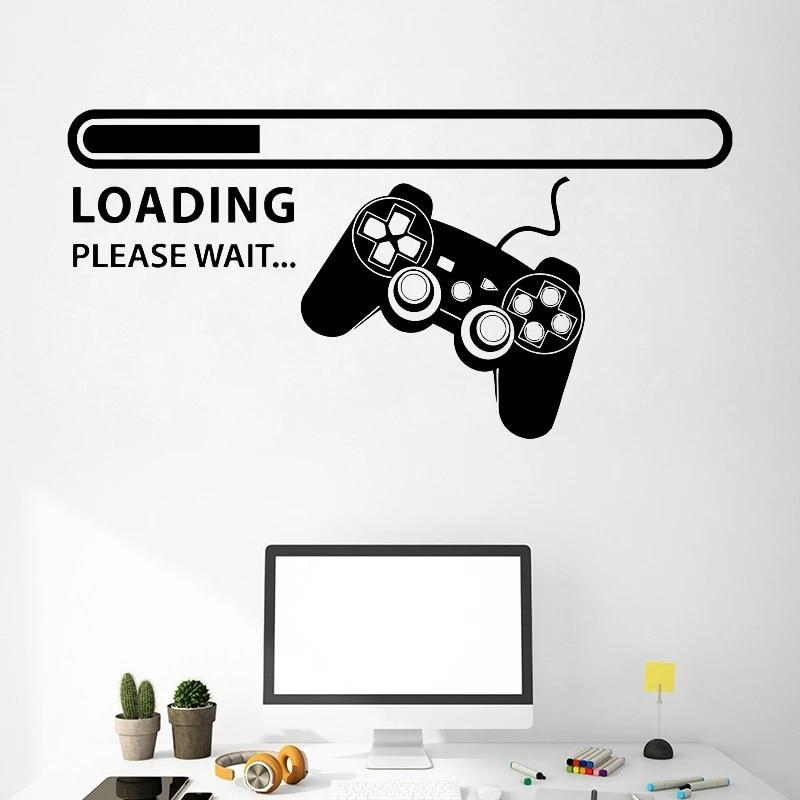 Loading Please Wait Computer Games Living Wall Art Stickers Decal Vinyl Room Medium