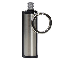Lighter Keychain Waterproof Portable El-Encendedor. Outdoor with Containing Cotton-Core