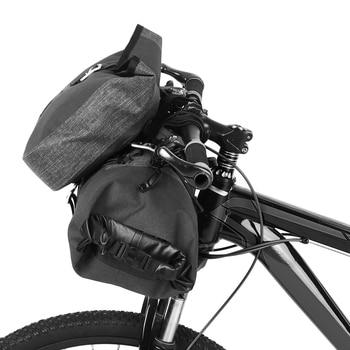 Waterproof 2 in 1 Cycling Handlebar Bag Set Large Capacity MTB Road Bike Bicycle Front Bag Pouch Pannier bicycle saddle bag