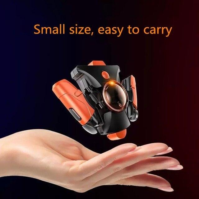 携帯電話ゲームpubg用ゲームパッドゲームターボ火災ボタン16ショット毎秒L1R1シューターpubgコントローラ