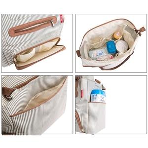 Image 5 - Torba na pieluchy 7 sztuk zestaw pieluszka tote torba o dużej pojemności do dziecko mama tata torba podróżna z wózek pasy