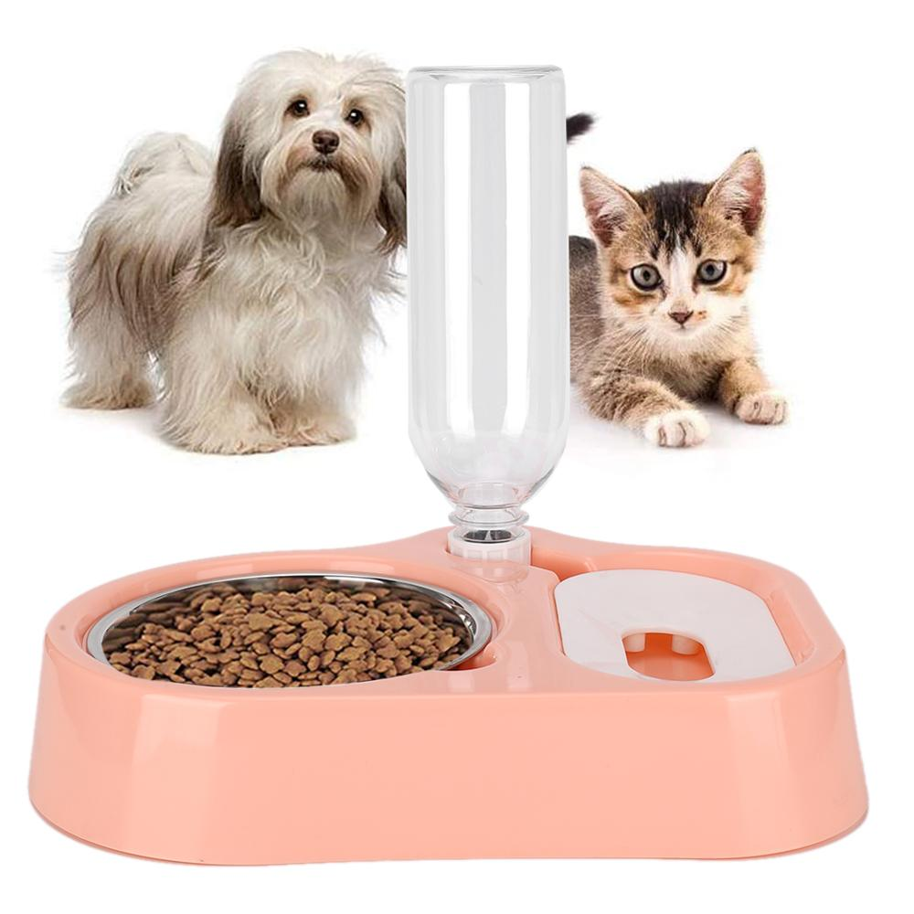 2 in 1 alimentatore per animali domestici gatti automatici Dispenser di acqua ciotole per bere alimenti per animali domestici alimentatore per gatti fontana per acqua forniture per animali domestici 2