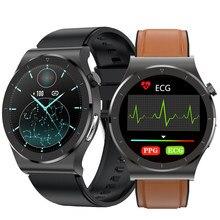 2021 novo relógio inteligente para homens ecg ppg smartwatch android ios monitor de temperatura oxigênio pressão arterial e20 relógios pulso inteligente