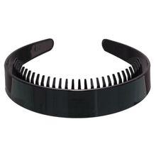 Headband Non-Slip Hair-Hoop Plastic Girls Women Wide Plain with Teeth-Comb Shiny DIY