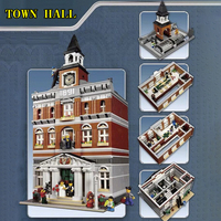 84003 With LED Town Hall Street Building Blocks Bricks Compatible legoingLYs 10224 Classic Model Kits Kids Toys birthday Gifts