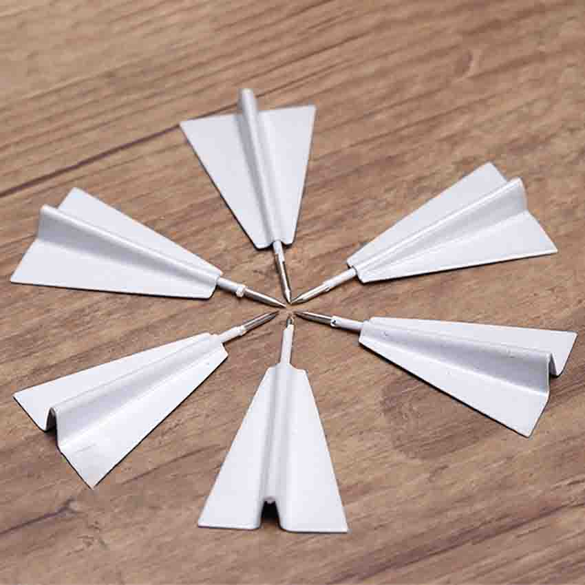 6pcs/set 4*2cm Creative Airplane Shape Thumbtack Mini Pin Thumb Tack Cork Message Board Pushpin For Home Office Wall Thumbtacks