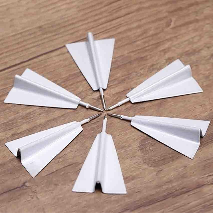 6pcs/set 4*2cm Creative Airplane Shape Thumbtack Mini Pin Thumb Tack Cork Message Board Pushpin For Home Office Wall Thumbtacks