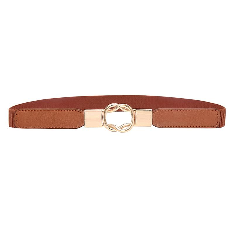 Women Belt Cummerbund High-elastic Retro Casual Concise All-match PU Leather Thick Fashion Belt For Dress Cummerbund
