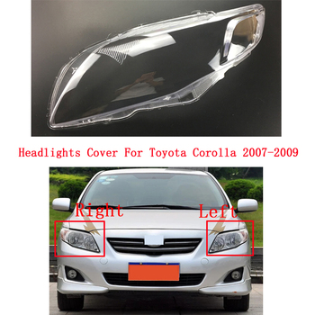 Front Car Protective cover headlights glass lamp shade shell lamp transparent cover For Toyota Corolla 2007-2009
