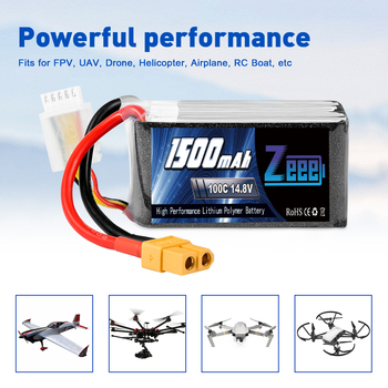 2units Zeee 4S 14.8V 1500mAh 100C Lipo Battery with XT60 Connector Softcase Lipo Battery for RC Car Truck Airplane FPV UAV Drone 5