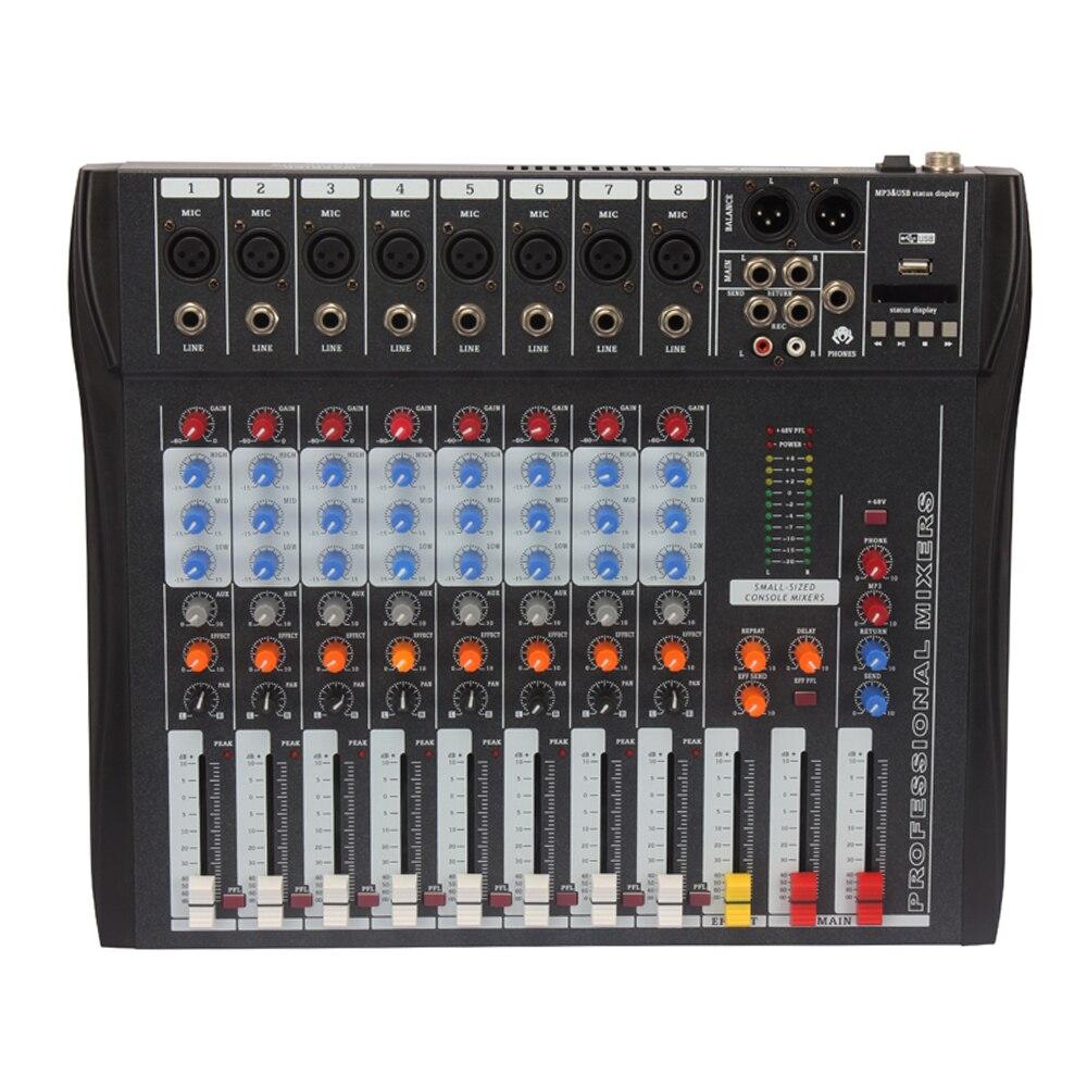 CT-80S USB professionnel scène Audio mélangeur intégré effet numérique musique 8 canaux mélangeur