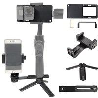 Für GoPro 7 6 5 4 3 + SJCAM Adapter/telefon Clip/Stativ/Halterung für Zhiyun Glatte Q 3 DJI Osmo Mobile 2 3 om4 Feiyu G5 Gimbal Halterung