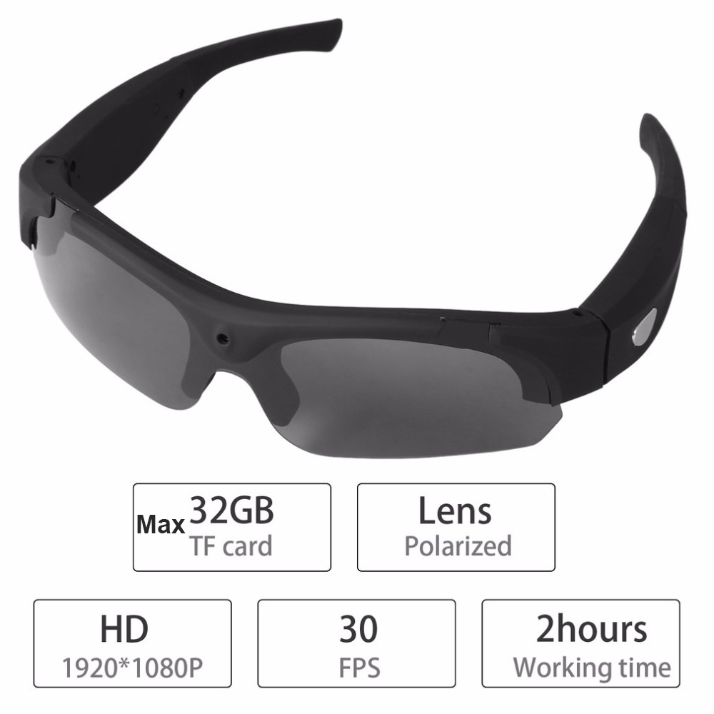 Новая мода открытый 1080p HD цифровой очки камеры автомобиля вождение поляризованных солнцезащитных очков с камеры мини ДВ