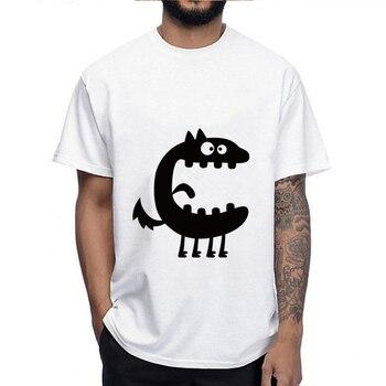 Мужская Повседневная футболка с принтом «большой рот», футболка с коротким рукавом для фитнеса, мужская одежда на Хэллоуин, 2019