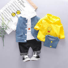 New 2019 Autumn Toddler Infant Clothes Suits Baby Boys Clothing Sets Vest Hooded T Shirt Pants Children Kids Costume Kids Suit цена в Москве и Питере