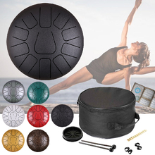 12 Inch 11 Notes  Steel Tongue Drum Musical Percussion Instruments Hand Pan Drum Drumsticks Handpan Drums