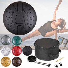 12 Inch 11 Notities Staal Tong Drum Musical Percussie Instrumenten Hand Pan Drum Drumsticks Handpan Drums(China)