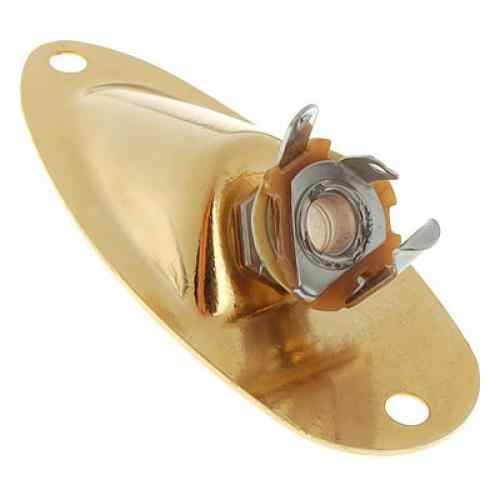 Tooyful Iron and Copper Gilded Gold Output Jack Socket for Electric Guitar Stratocaster Replacement Accessories