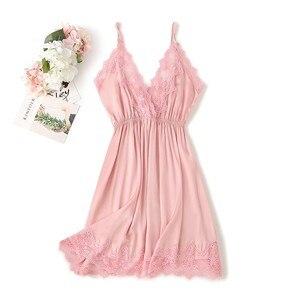 Image 4 - Lace Trim Sexy Wedding Lady Robe Suit Loose Satin Bride Bridesmaid Kimono Bathrobe Gown Mini Sleepwear Rayon Intimate Lingerie